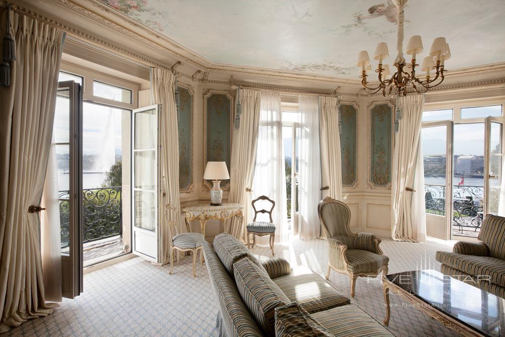 Suite Lounge at Beau Rivage GenevaSwitzerland