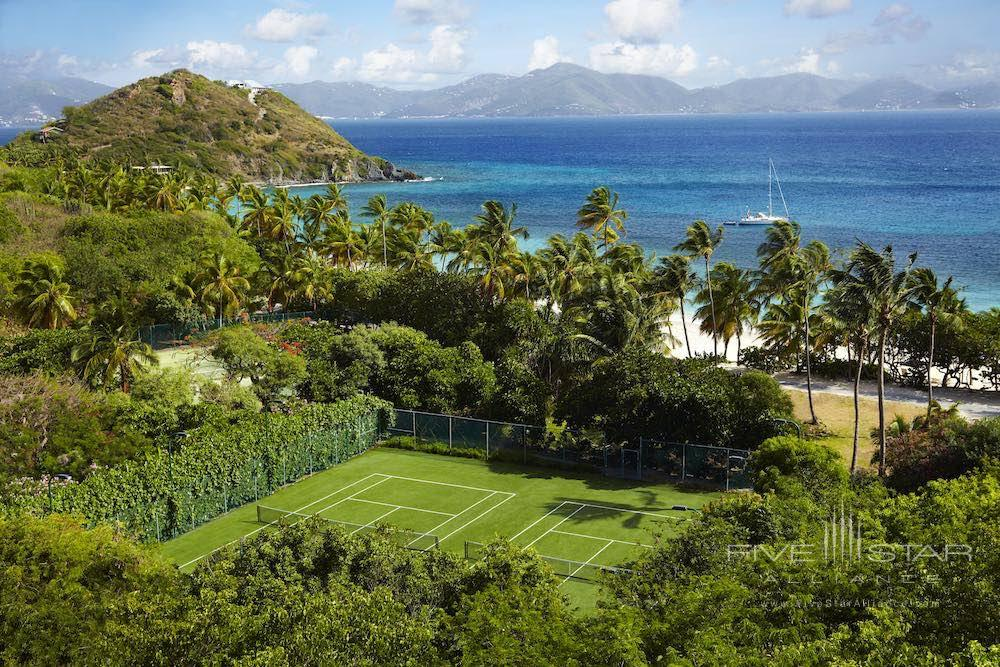 Tennis courts at Peter Island Resort & Spa
