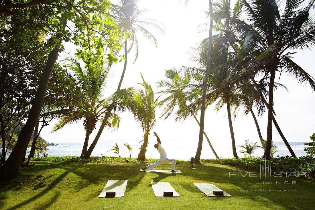 Sunrise yoga at Peter Island Resort & Spa