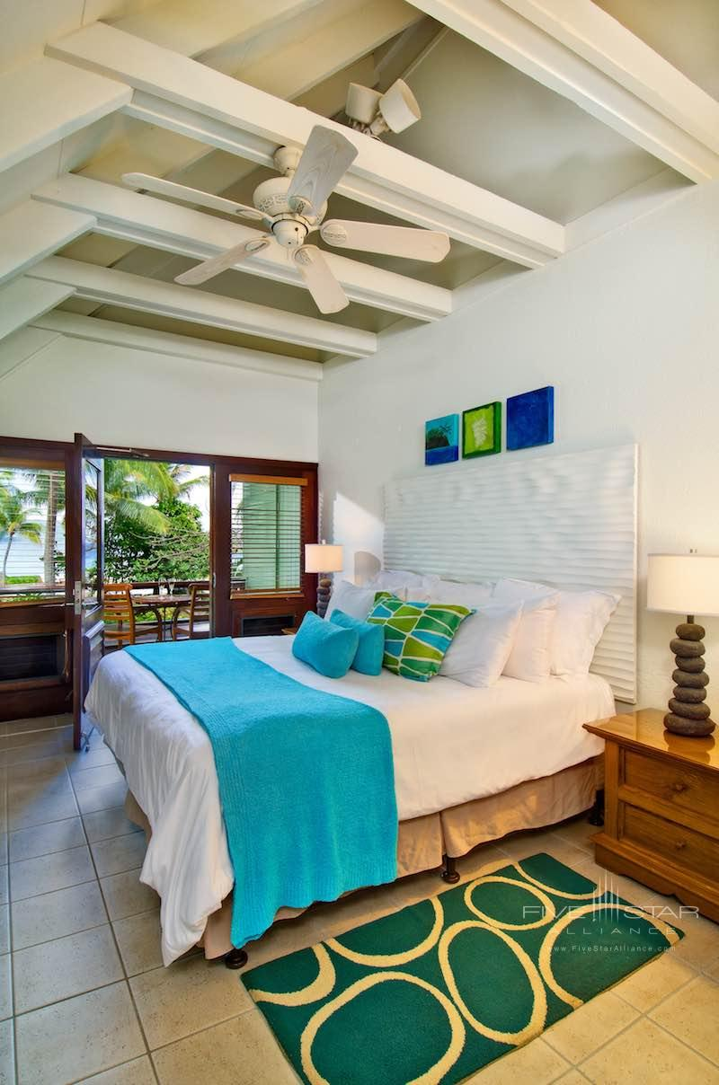 Interior of an ocean view room at Peter Island Resort & Spa