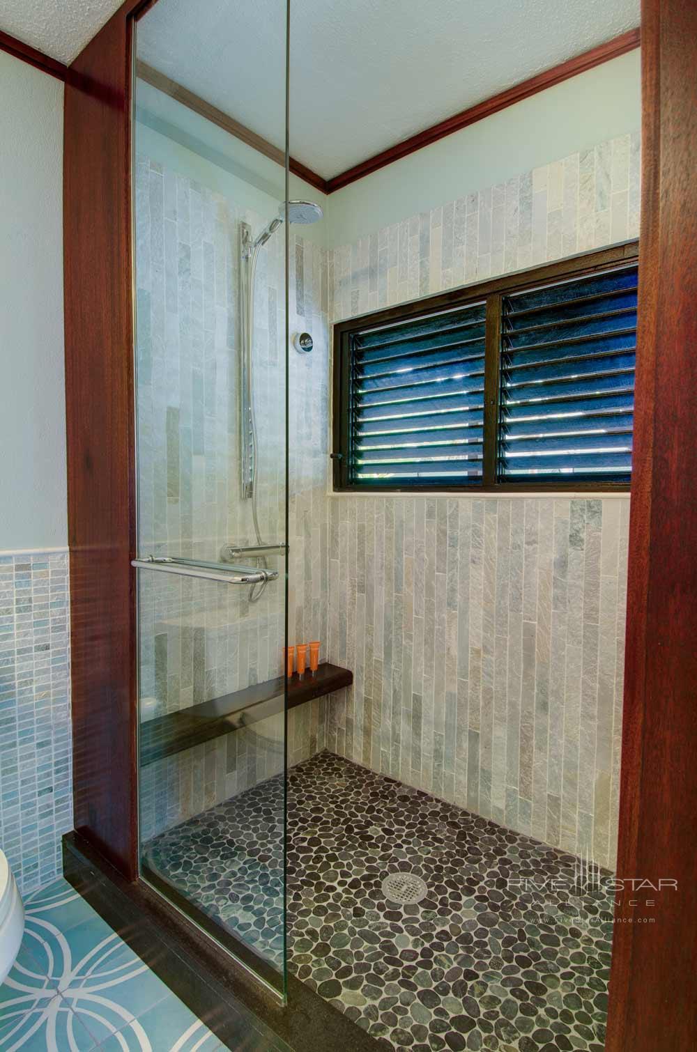 Deluxe Ocean View Guest Bath at Peter Island Resort & SpaPeter IslandBritish Virgin Islands
