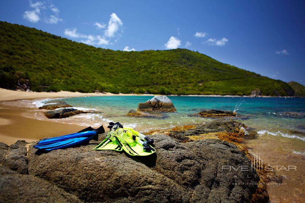 Snorkeling on White Bay Beach at Peter Island Resort & SpaPeter IslandBritish Virgin Islands