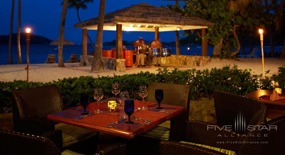 Deadmans Beach Bar and Grill Table at Peter Island Resort & SpaPeter IslandBritish Virgin Islands