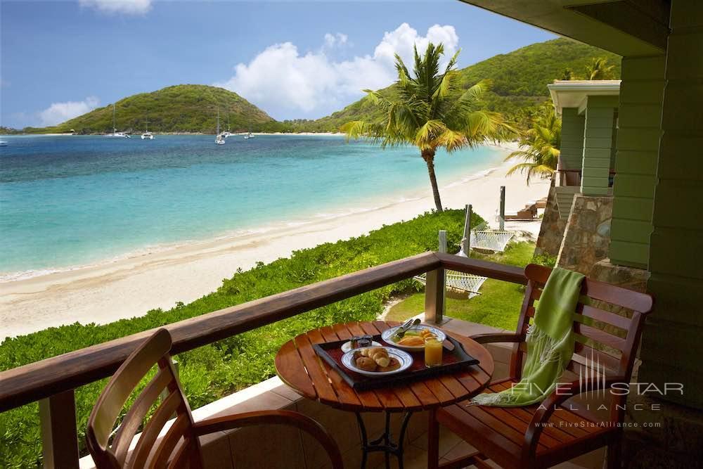 Beachfront Junior Suite Balcony at the Peter Island Resort & Spa
