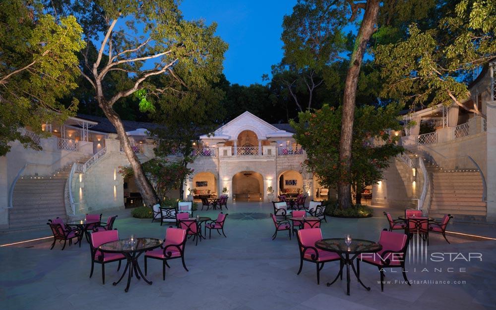 Terrace Dining at Sandy Lane Hotel, Barbados
