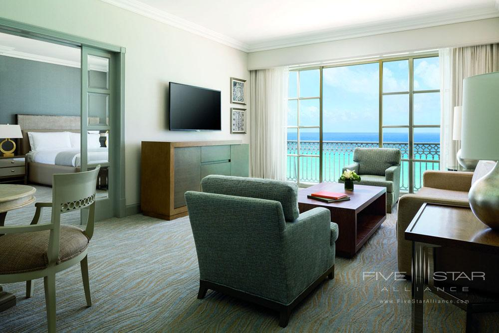 Suite with ocean views at Ritz Carlton Cancun, Mexico