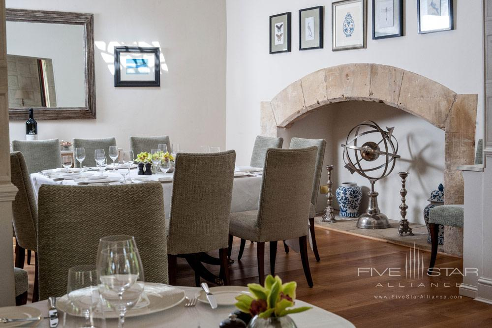 Dining at Lower Slaughter Manor, United Kingdom