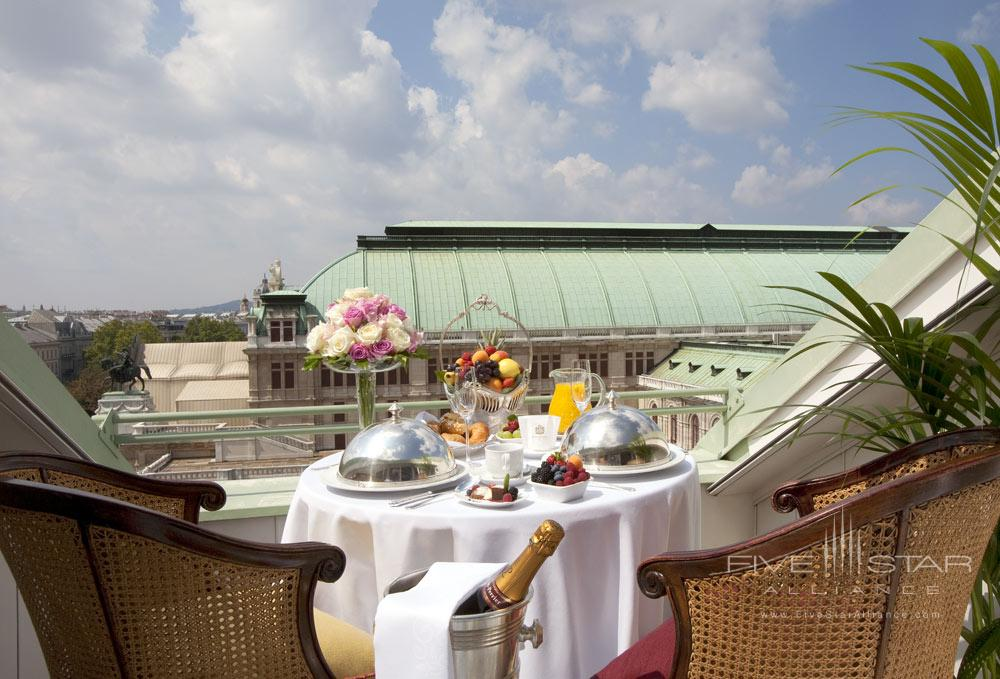 Terrace Dining at Hotel Bristol ViennaAustria