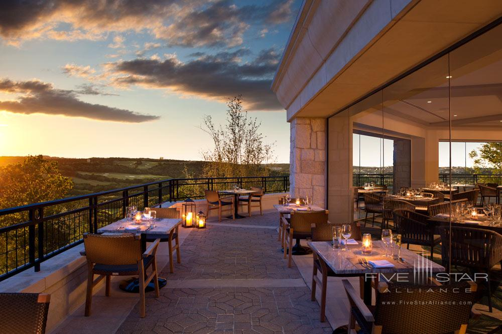 Terrace Dining at La Cantera Resort and Spa, San Antonio, TX