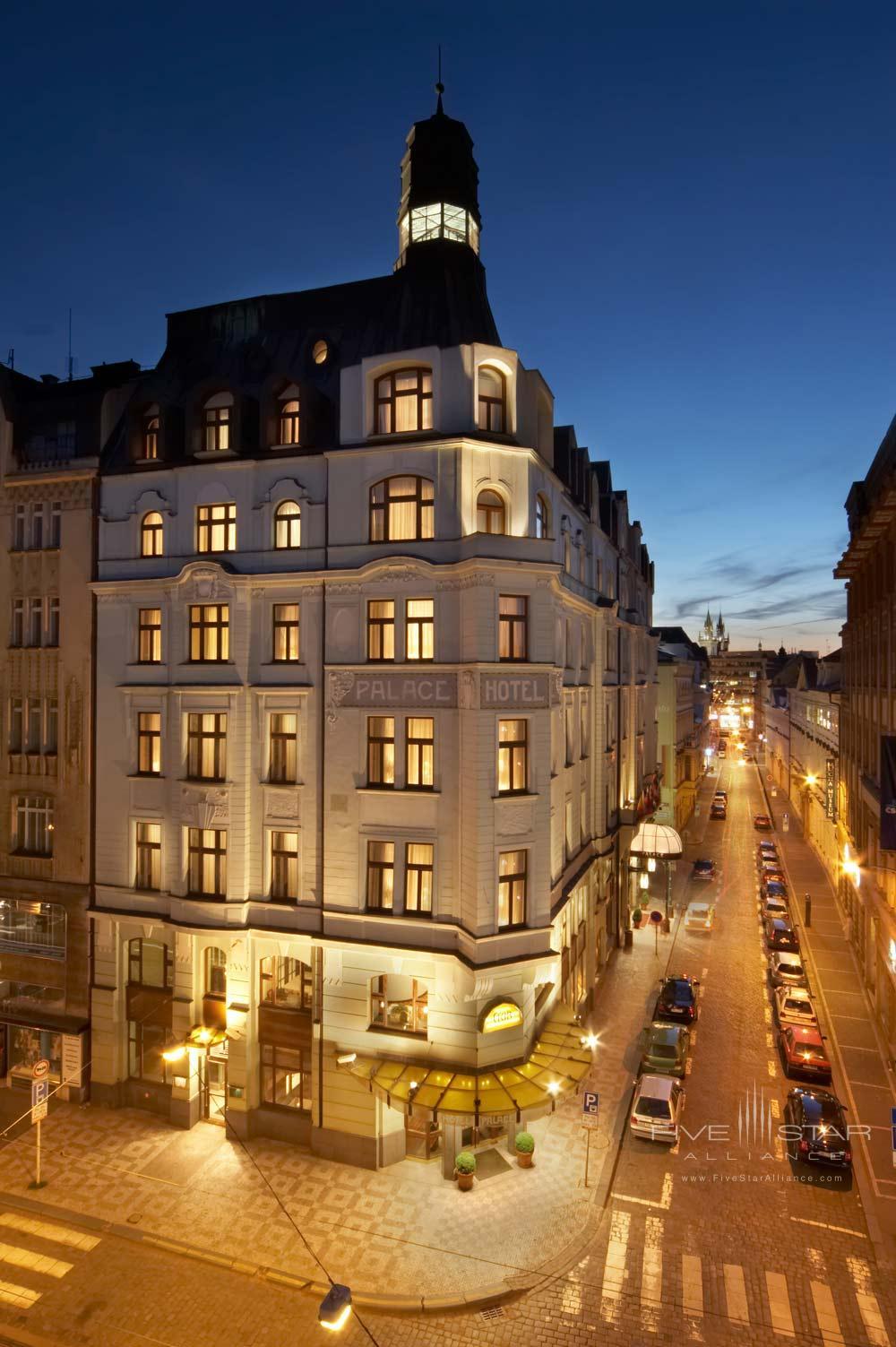 Exterior of Art Nouveau Palace Hotel Prague