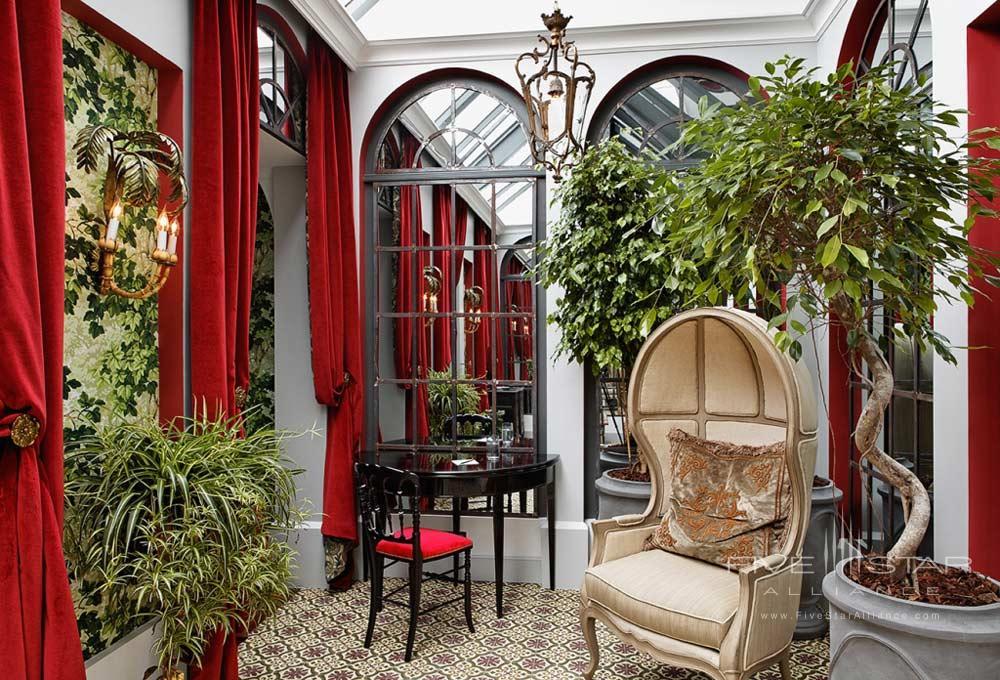 Jr Suite Sitting Area at Saint James Paris Hotel, France