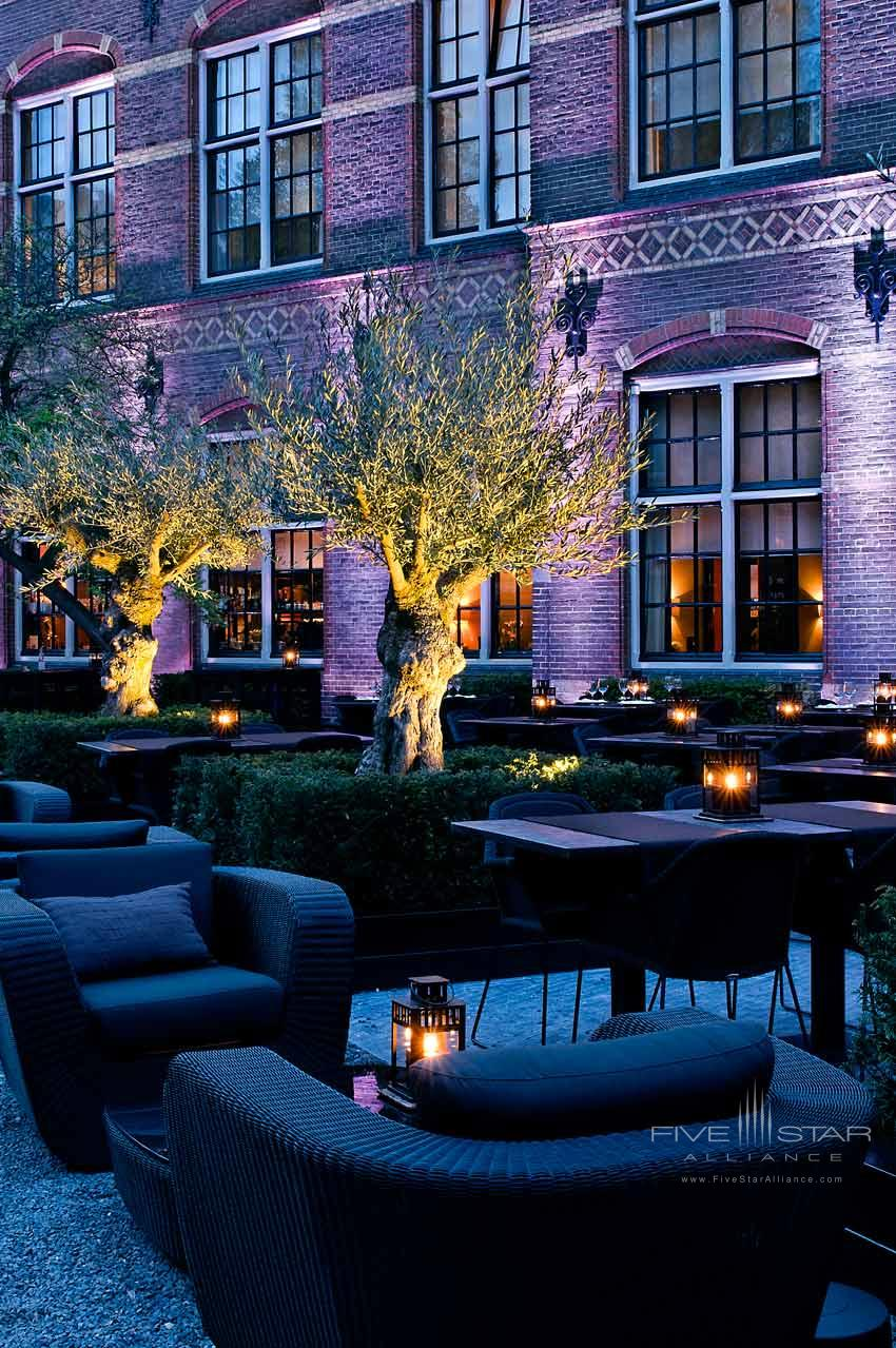 Courtyard area of The College HotelAmsterdam