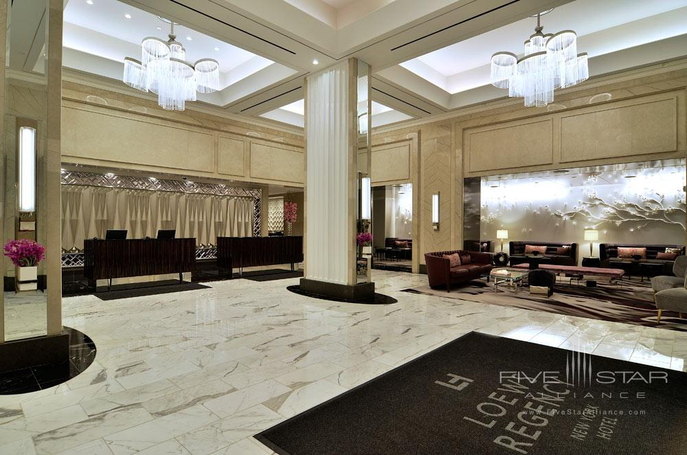 Lobby at Loews Regency HotelNew York