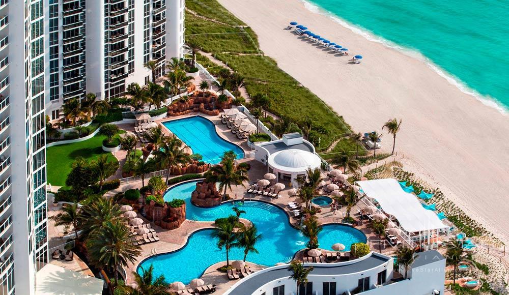 Aerial View of Resort and Beach at Trump International Beach Resort in Sunny Isles BeachFL