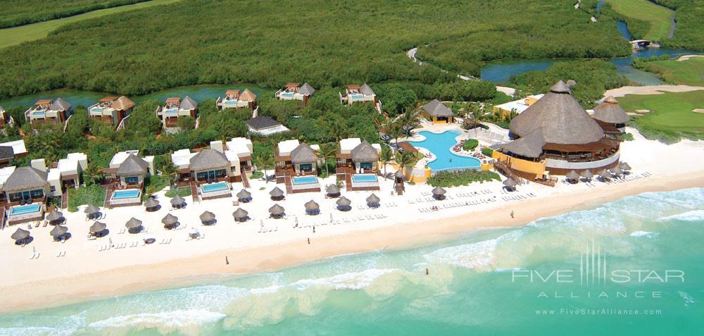Beach view ofThe Fairmont Mayakoba in Playa del CarmenMexico