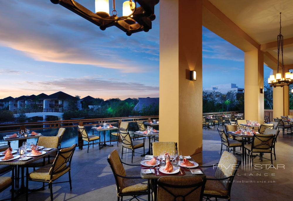 Outdoor Terrace Dining at The Fairmont Mayakoba in Playa del CarmenMexico