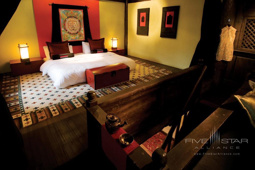 Tibetan Spa Suite Bedroom at Banyan Tree Ringha