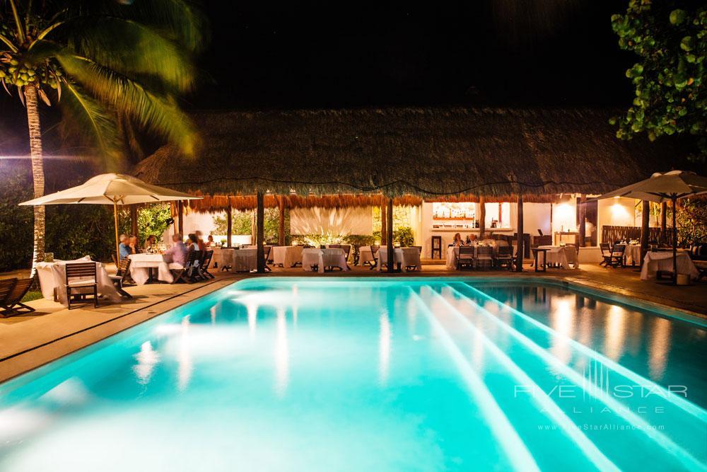 Pool Side Dining at EsenciaPlaya del CarmenQuinta RooMexico