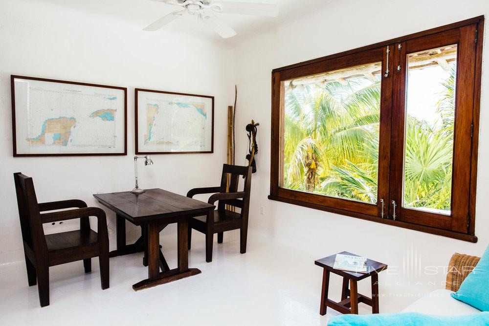 Private Villa Sitting Room at EsenciaPlaya del CarmenQuinta RooMexico