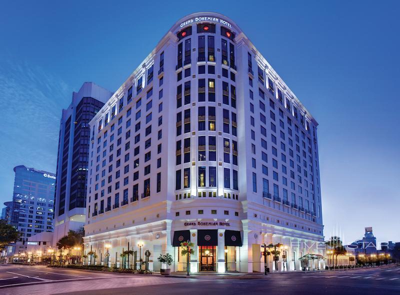Exterior view of the Grand Bohemian Hotel Orlando.