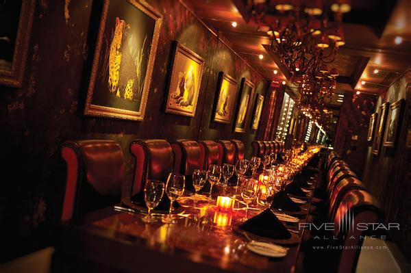 Wine room at the Grand Bohemian Hotel Orlando.