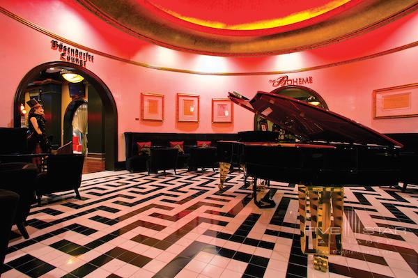 Bosendorfer Lounge at the Grand Bohemian Hotel Orlando.