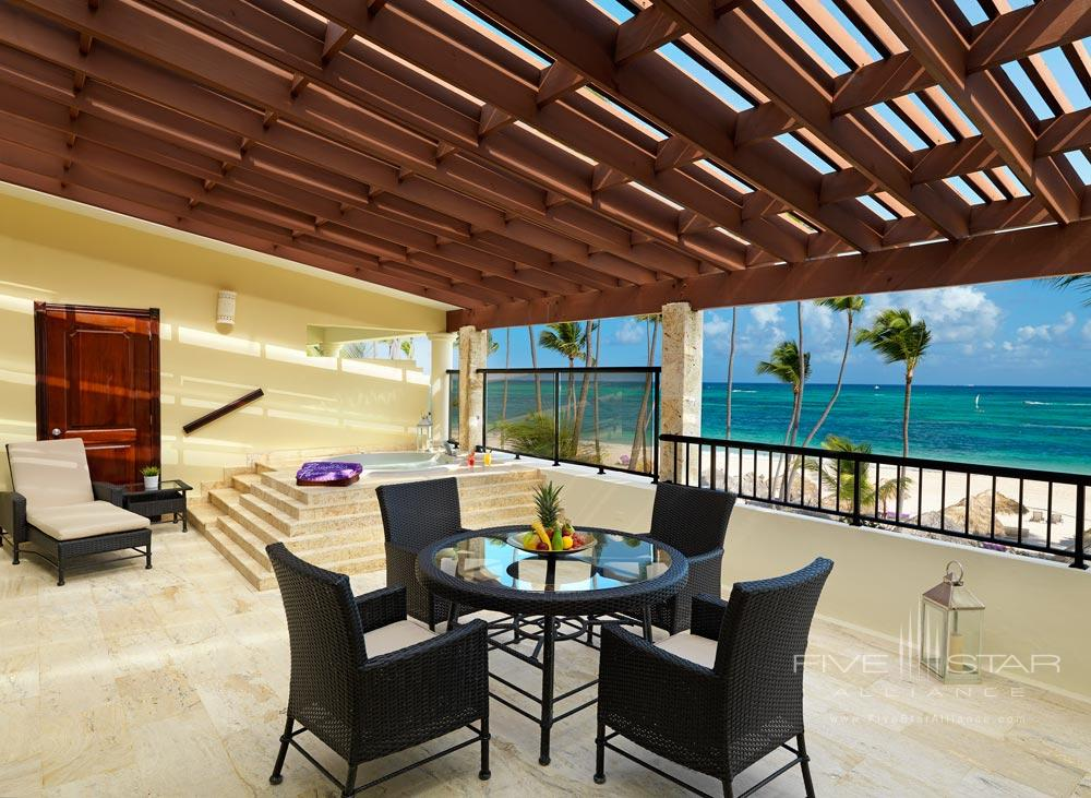 Presidential Suite Terrace at Paradisus Palma Real All Inclusive, Punta, Cana