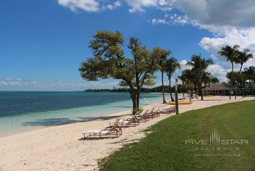 Beach Area at Old Bahama Bay Resort, West End, Grand Bahama Island, Bahamas