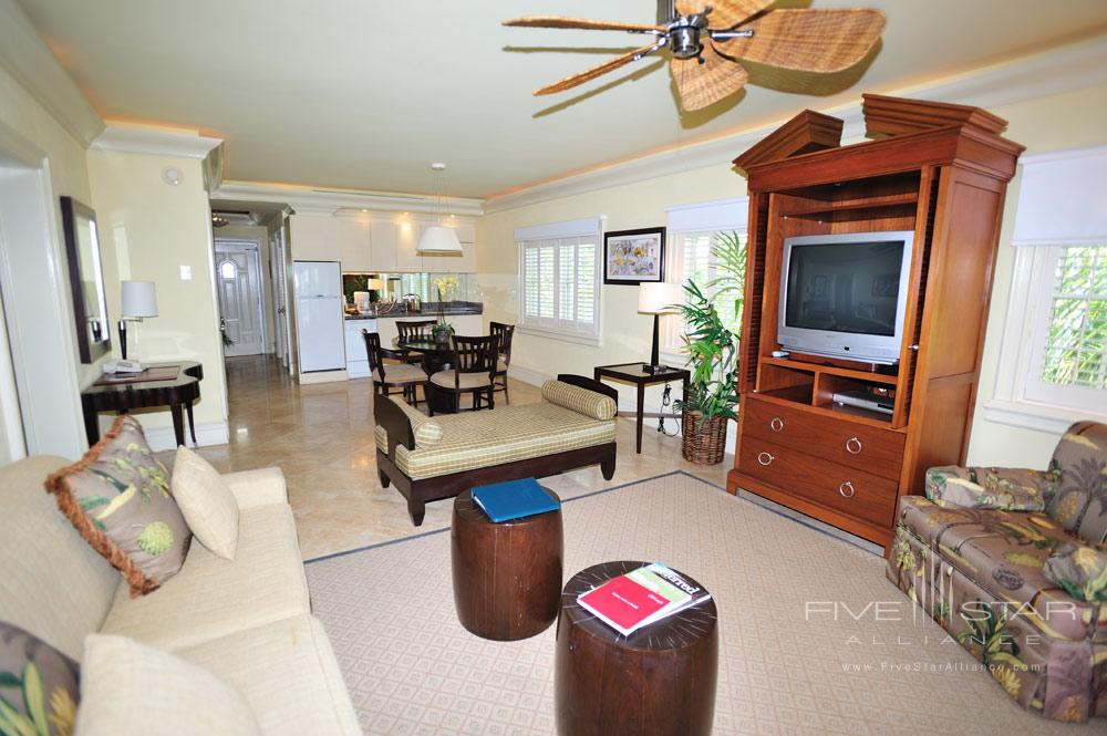Suite Living Area at Old Bahama Bay Resort, West End, Grand Bahama Island, Bahamas