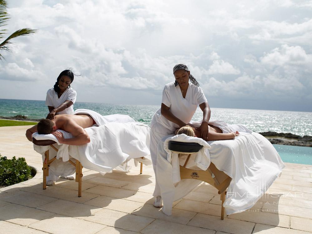Beach Side Massage at Old Bahama Bay Resort, West End, Grand Bahama Island, Bahamas