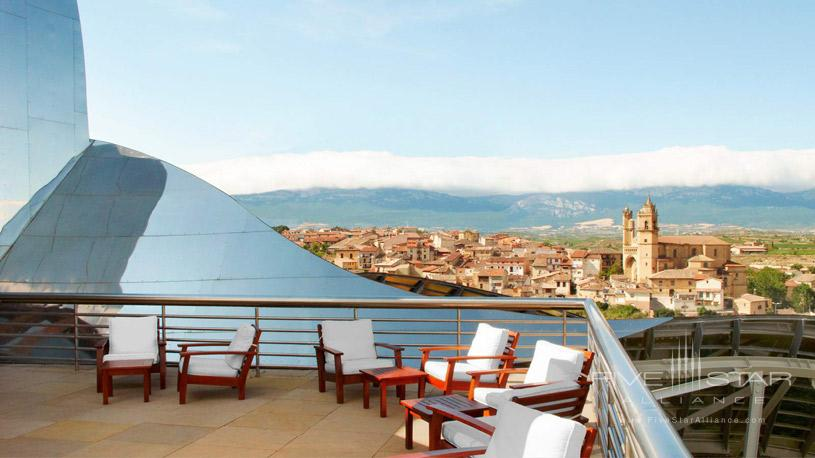 Rooftop Terrace at The Marques De Riscal Hotel