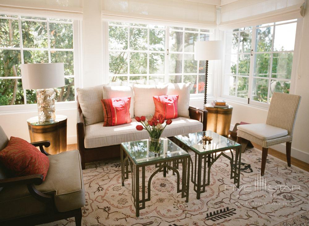Suite Living Area at Belmond El Encanto
