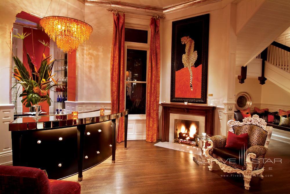 Lounge at The Mansion on Forsyth Park, Savannah, GA
