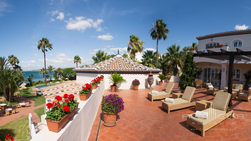 Terrace Lounge at Healthouse Las Dunas, Malaga, Spain