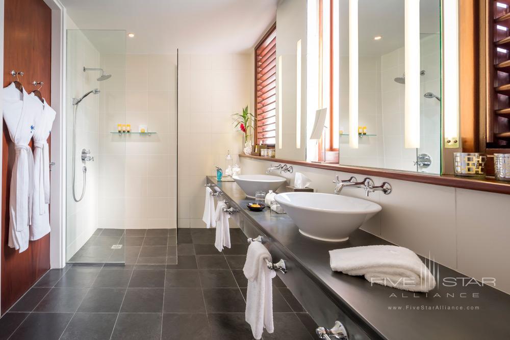 Guest bathroom at Capella Marigot Bay ResortSt. Lucia, West Indies