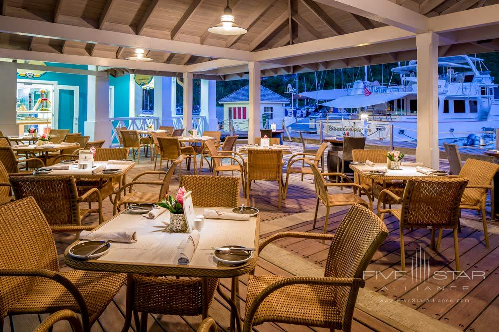Dining by the marina at Capella Marigot Bay ResortSt. Lucia, West Indies