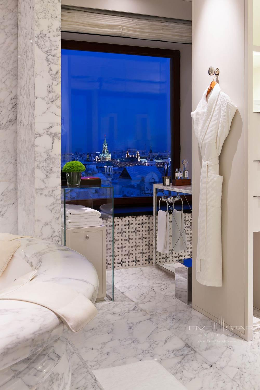 Penthouse Suite Bath at Ararat Park Hyatt Moscow, Moscow, Russia