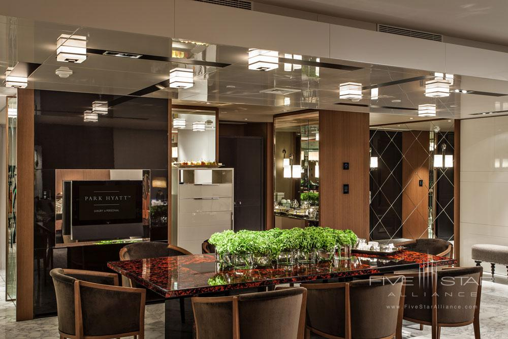 Penthouse Suite Dining at Ararat Park Hyatt Moscow, Moscow, Russia