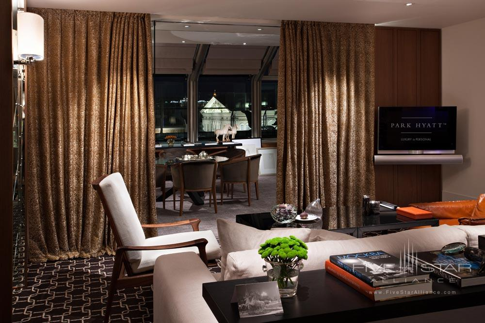 Winter Garden Suite Living Room at Ararat Park Hyatt Moscow, Moscow, Russia
