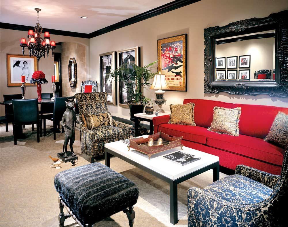 Living Area of Raven Suite at Hotel Zaza DallasTexas