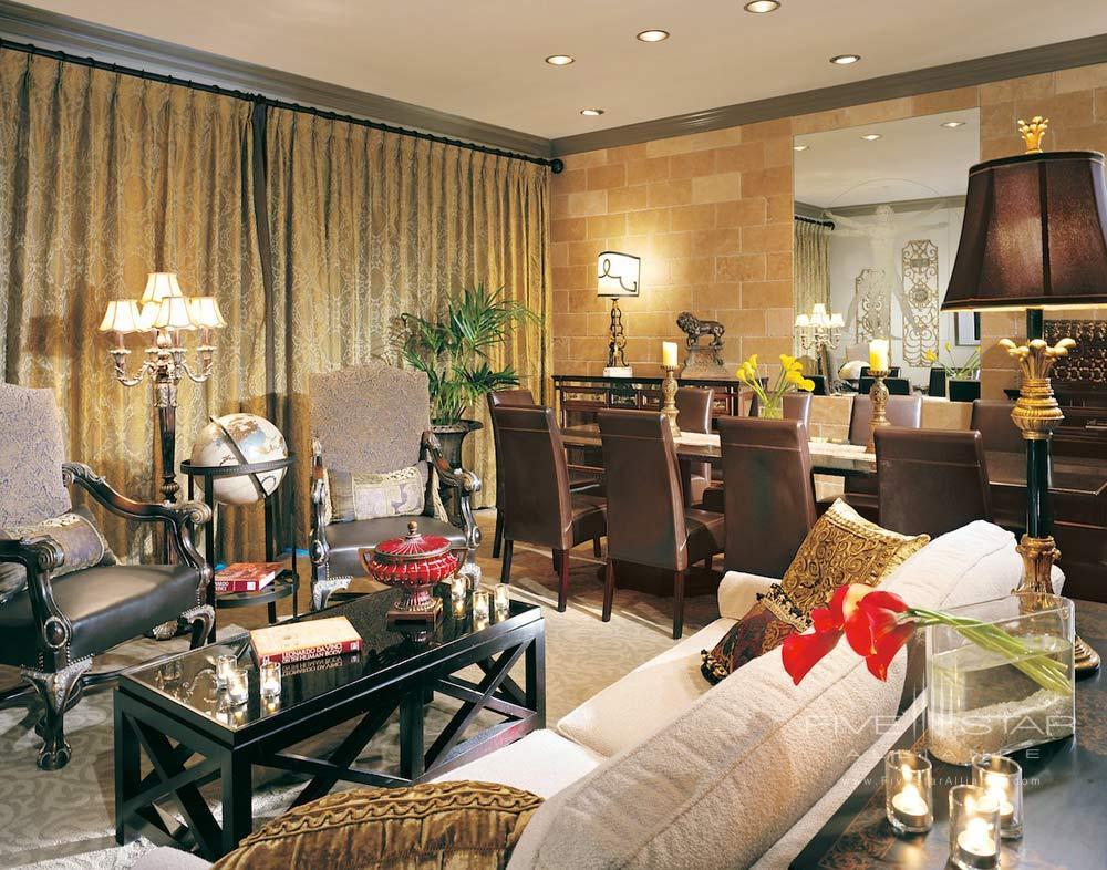 Leonardo Suite Living Area at Hotel Zaza DallasTexas