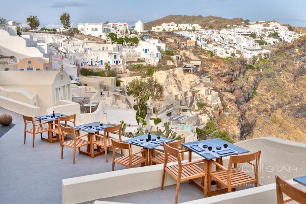 Terrace Dining at Mystique Santorini