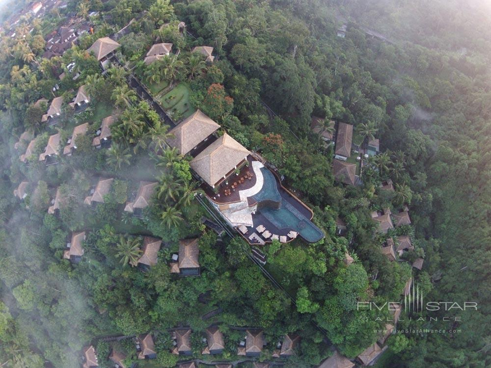 Aerial view in the morning at Hanging Gardens UbudBaliIndonesia