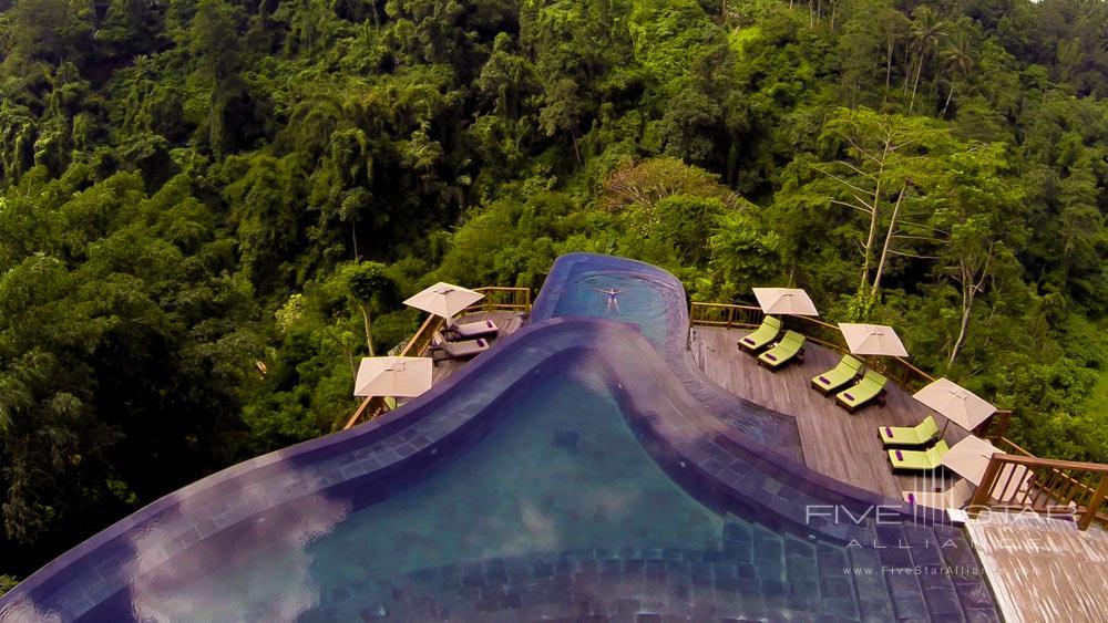 Twin tiered main pools at Hanging Gardens UbudBaliIndonesia