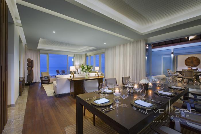 Naladhu Resort Two Bedroom Pool Residence Dining and Living Room