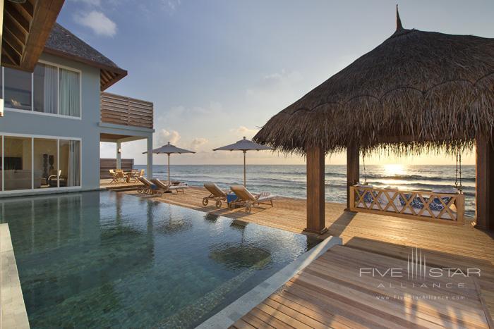 Naladhu Resort Two Bedroom Pool Residence Pool Deck and Swing