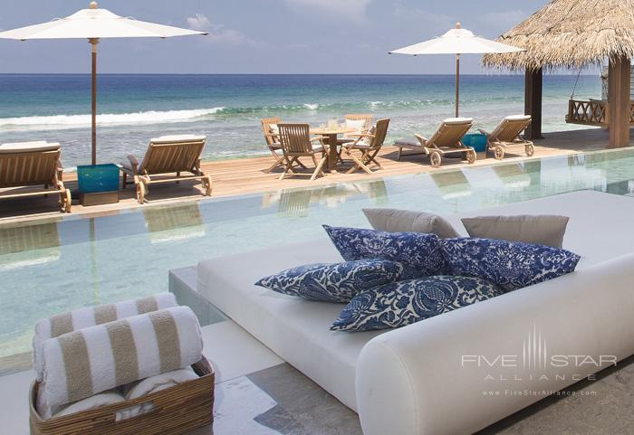 Naladhu Resort Two Bedroom Pool Residence Relaxation Area Pool and Deck