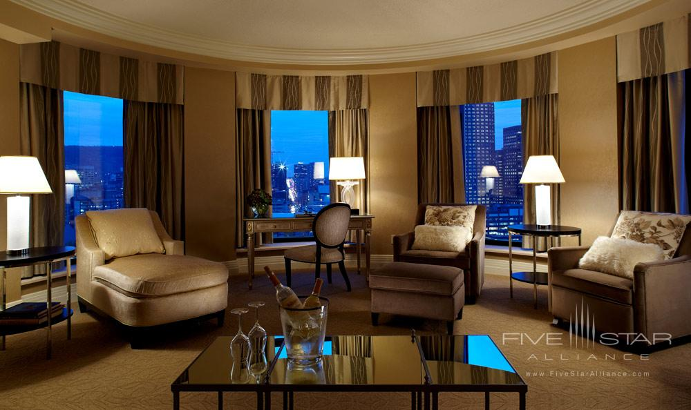 Suite Living Room at Intercontinental Montreal