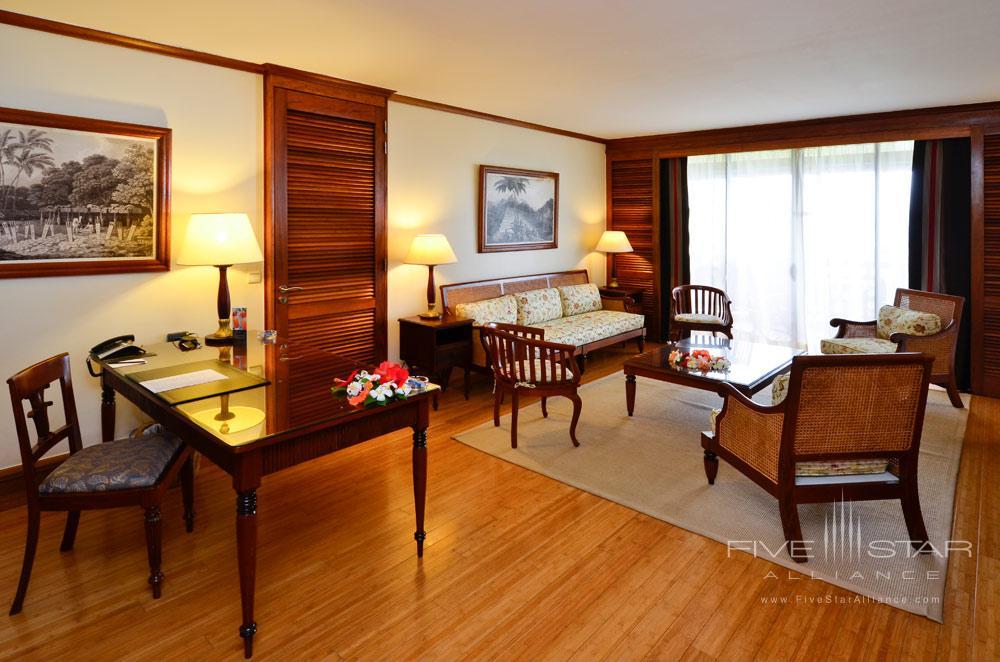 Suite Living Area at InterContinental Resort TahitiPapeete