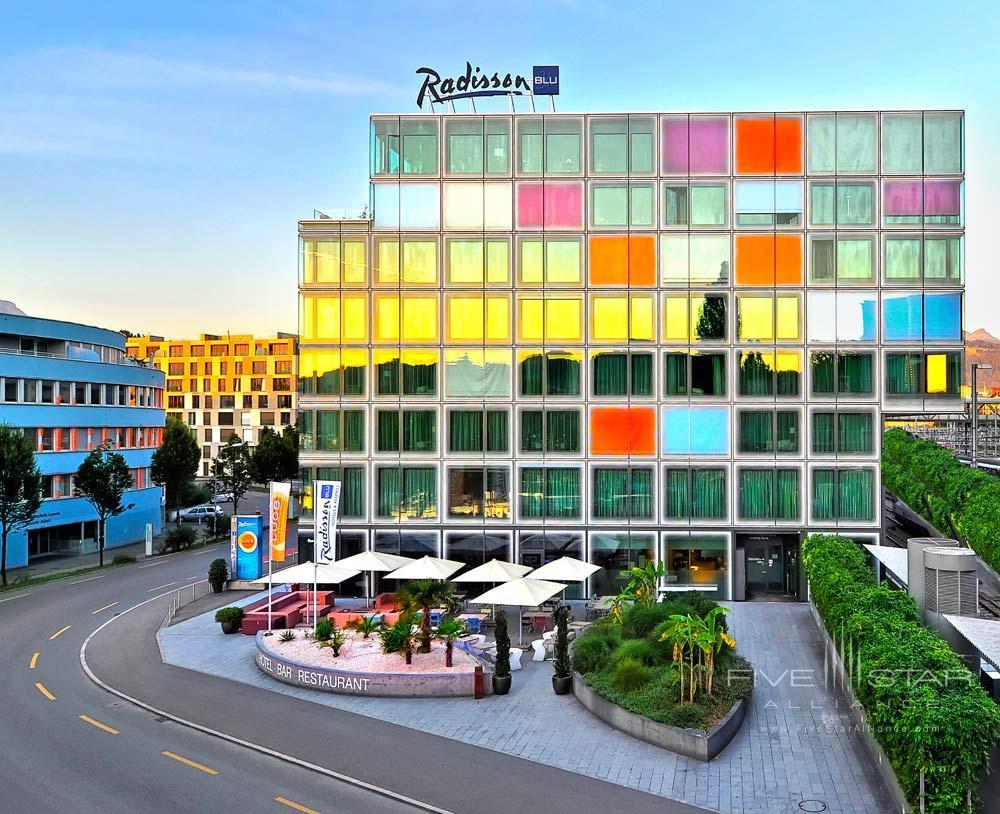 Exterior of Radisson Blu Hotel Lucerne